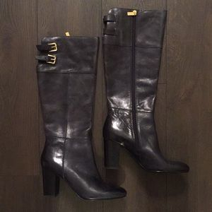 Isola Shoes - Beautiful Black Leather Heel Boots 👢
